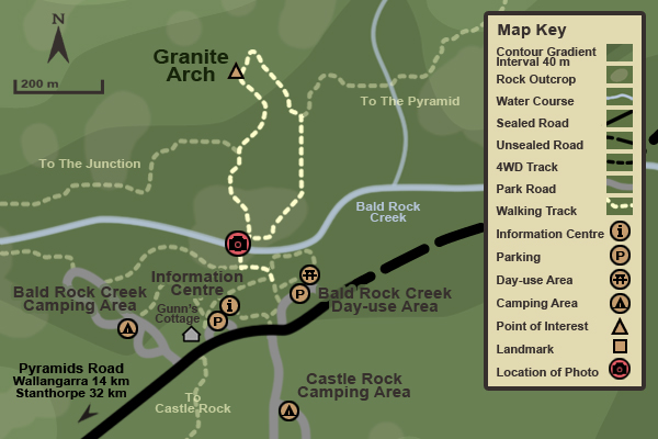 Map of the Granite Arch Track