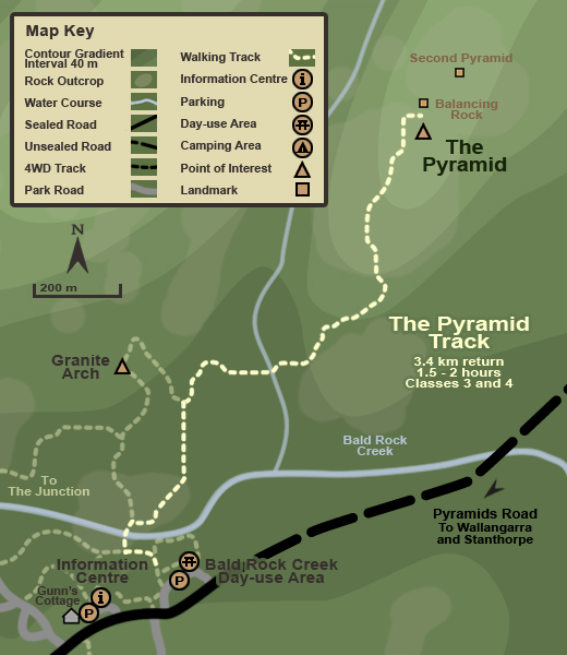 Map of The Pyramid track