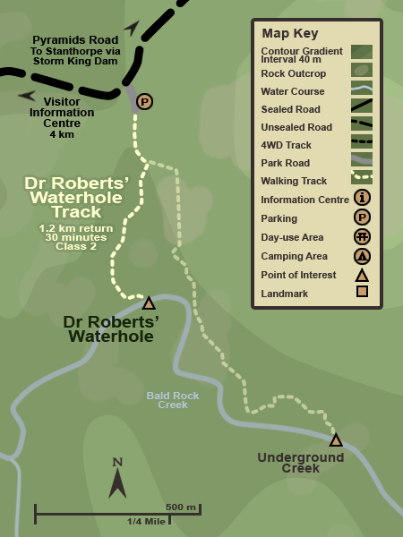 Map of the Dr Roberts' Waterhole Track