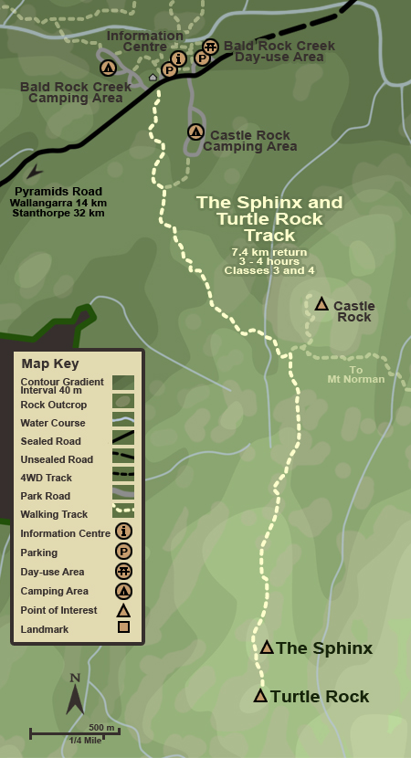 Map of the The Sphinx and Turtle Rock Track