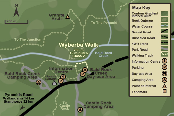 Map of the Wyberba Walk
