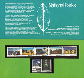 National Park series Collector's Pack interior