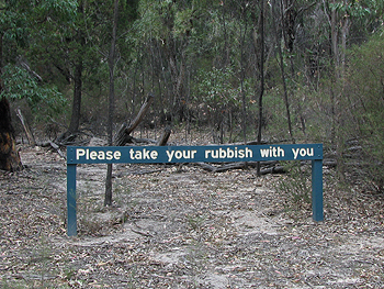 Please take your rubbish away with you.