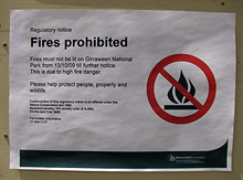 Fire ban notice.
