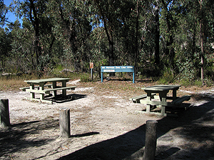 This is a small roadside picnic area.