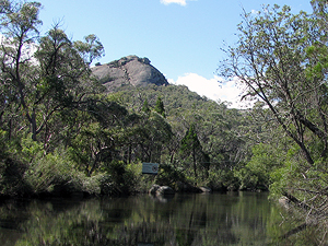 A view of The Pyramid over Bald Rock Creek.